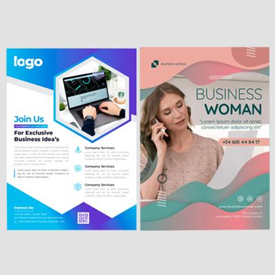 Diseño de folleto A5/A4 1 cara
